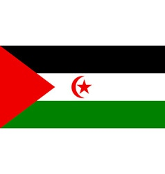 sahrawi arab democratic republic flag vector image