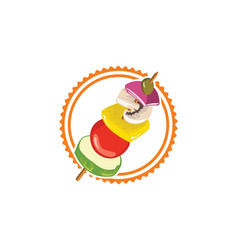 Salad fruit logo vector