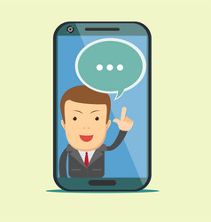 screen smartphone with virtual assistant vector image