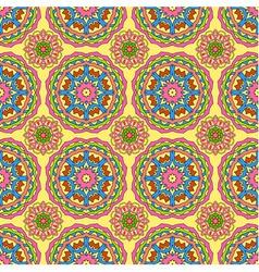 Seamless pattern made from abstract circle mandala vector