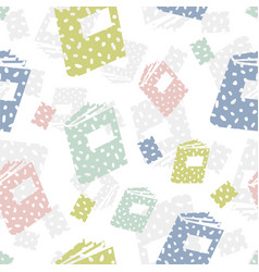 seamless pattern with books abstract background vector image