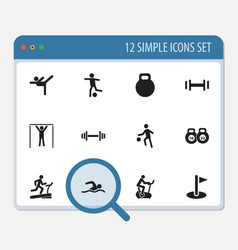 Set of 12 editable healthy icons includes symbols vector