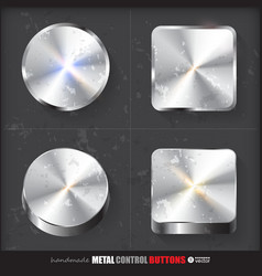 Set of two positions of circle and cube metal vector