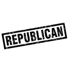 Square grunge black republican stamp vector