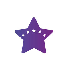 star logo template with five stars inside award vector image