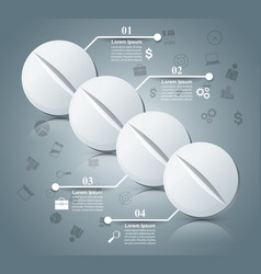 tablet pill pharmacology infographic vector image