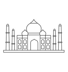 taj mahal icon outline style vector image