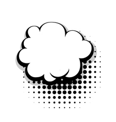 Template comic speech cloud bubble vector