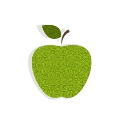 Textured green apple vector image