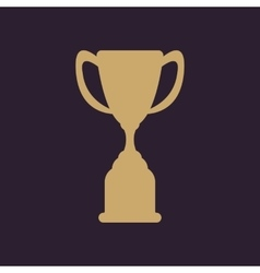 The goblet icon Achievement symbol Flat vector