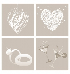 wedding3 vector image vector image