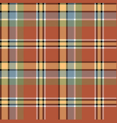 brown beige colors check fabric texture seamless vector image
