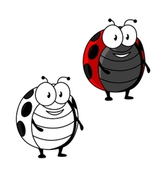 Cartoon red spotted ladybird or ladybug insect vector image vector image