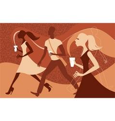 coffee people vector image vector image
