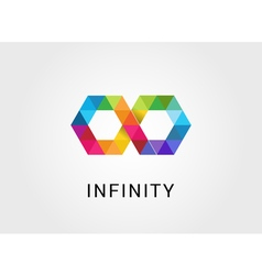 Colorful geometric abstract infinity endless vector image vector image