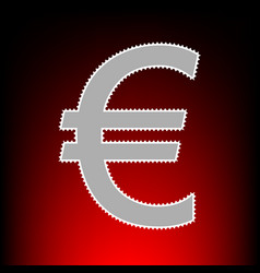 euro style on red vector image
