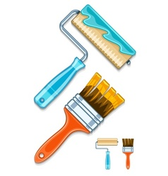 Maintenance tools brushes and vector image vector image