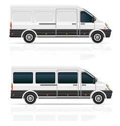 mini bus 03 vector image vector image