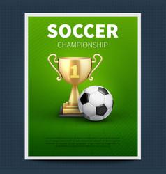 soccer or european football sports poster vector image vector image