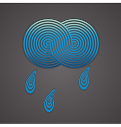 with cloud and drops vector image vector image
