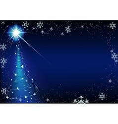 Blue Glowing Xmas Tree vector image vector image