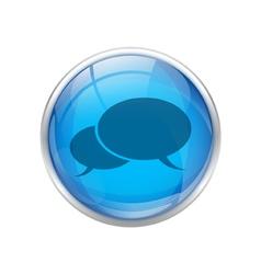 Blue talk button vector image