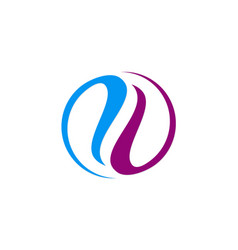 circle abstract balance colored logo vector image vector image