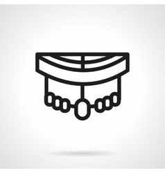 Longboard pars black simple line style icon vector image