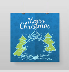 merry christmas greeting card template for vector image vector image