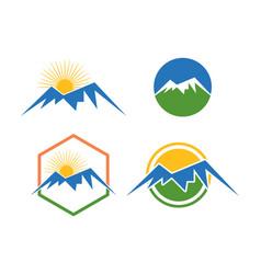 mountain logo template vector image