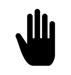 open human hand vector image
