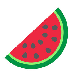 watermelon flat icon fruit and diet vector image