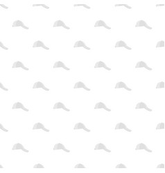 white baseball cap on side pattern seamless vector image vector image