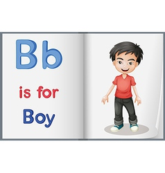 A picture of a boy in a book vector image vector image