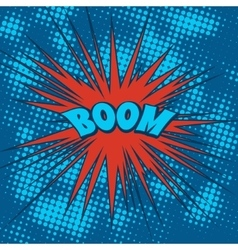Boom comics icon in Pop-Art style vector image