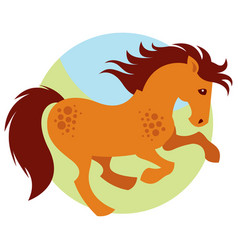 cartoon galloping horse vector image