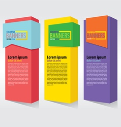 Colorful vertical banners EPS10 vector image vector image