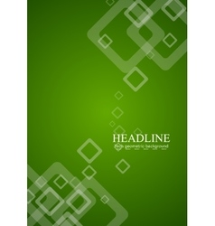Green abstract tech background vector