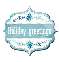 Holiday Greeting Card vector image vector image