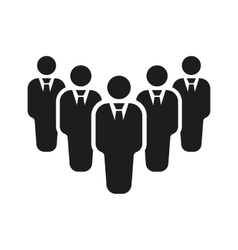 The teamwork icon Leader and chief symbol Flat vector image