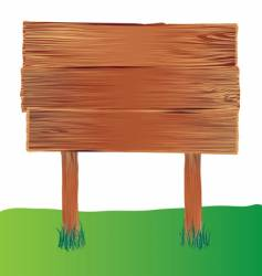 wood sign vector image vector image