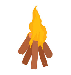 bonfire icon isometric style vector image vector image