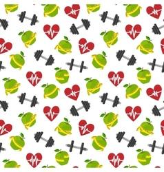 Fitness symbols seamless pattern vector