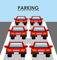 parking service design vector image