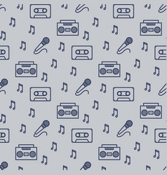 retro musician seamless pattern design vector image vector image