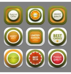 Set of modern design labels eps 10 vector image vector image