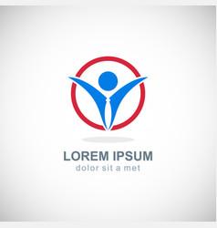 success business man logo vector image