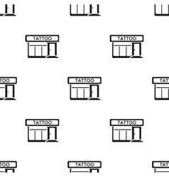 Tattoo salon building parlor icon black Single vector image vector image