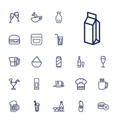 22 drink icons vector