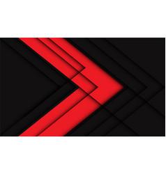 Abstract red grey arrow geometric line shadow vector